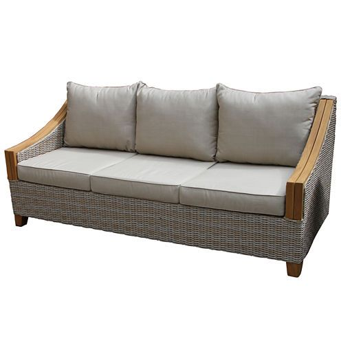 Buy Outdoor Interiors Wicker and Natural Teak Sofa with Sunbrella Pillows and Cushions at JCPenney.com today and enjoy great savings. Available Online Only!