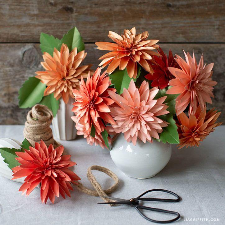 Video Tutorial New Frosted Paper Dahlia Flower Kit Lia Griffith Paper Flowers Paper Flower Tutorial Paper Dahlia