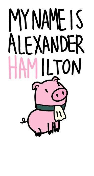 Alexander Hamilton. My name is Alexander Hamilton. And there's a million things…