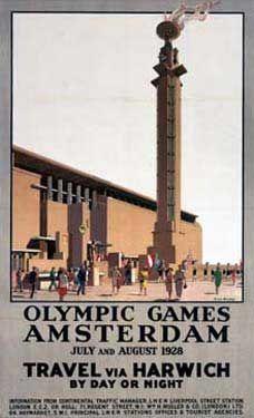 Amsterdam Games travel poster 1928