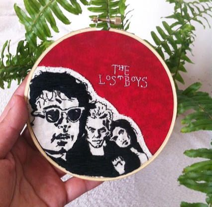 The lost boys wall decor/The lost boys embroidery/The lost
