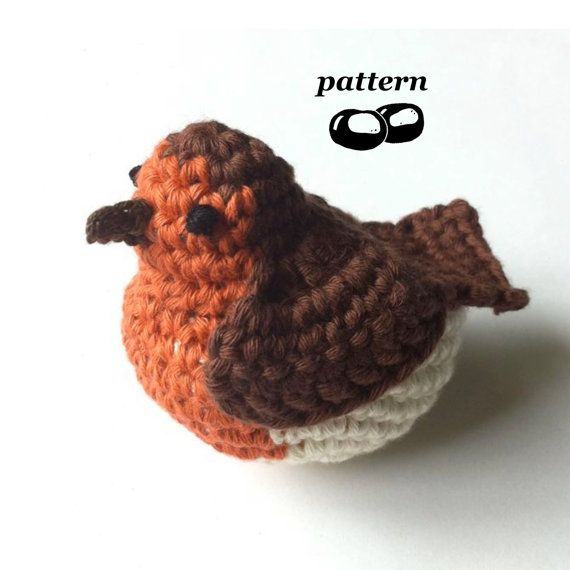Robin Crochet Pattern / Crochet Bird Pattern / by LittleConkers