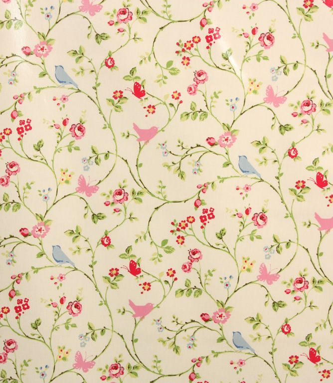 Beautiful floral bird design on this oil cloth  http://www.justfabrics.co.uk/curtain-fabric-upholstery/chintz-pvc-bird-trail-fabric/