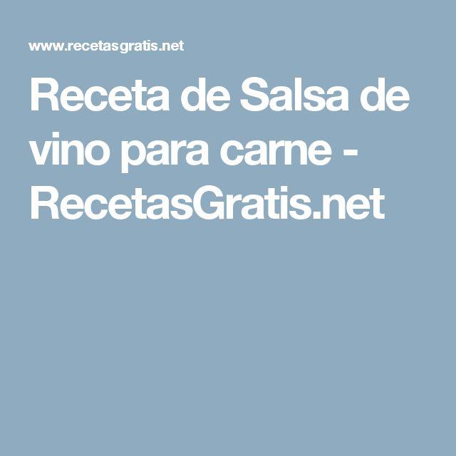 Receta de Salsa de vino para carne - RecetasGratis.net