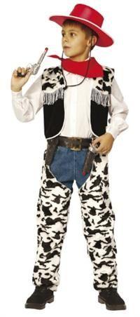 Kovboy Kostümü, Erkek Çocuk 4-6 Y Parti Kostümleri - Erkek Çocuk Parti Kostümleri Üke Kostümü, Karakter kostümü: Kostüm şapka, bandana, yelek, pantolon tozluğu ve kemerden oluşmaktadır. Resimde görünen tabanca kostüme dahil değildir!