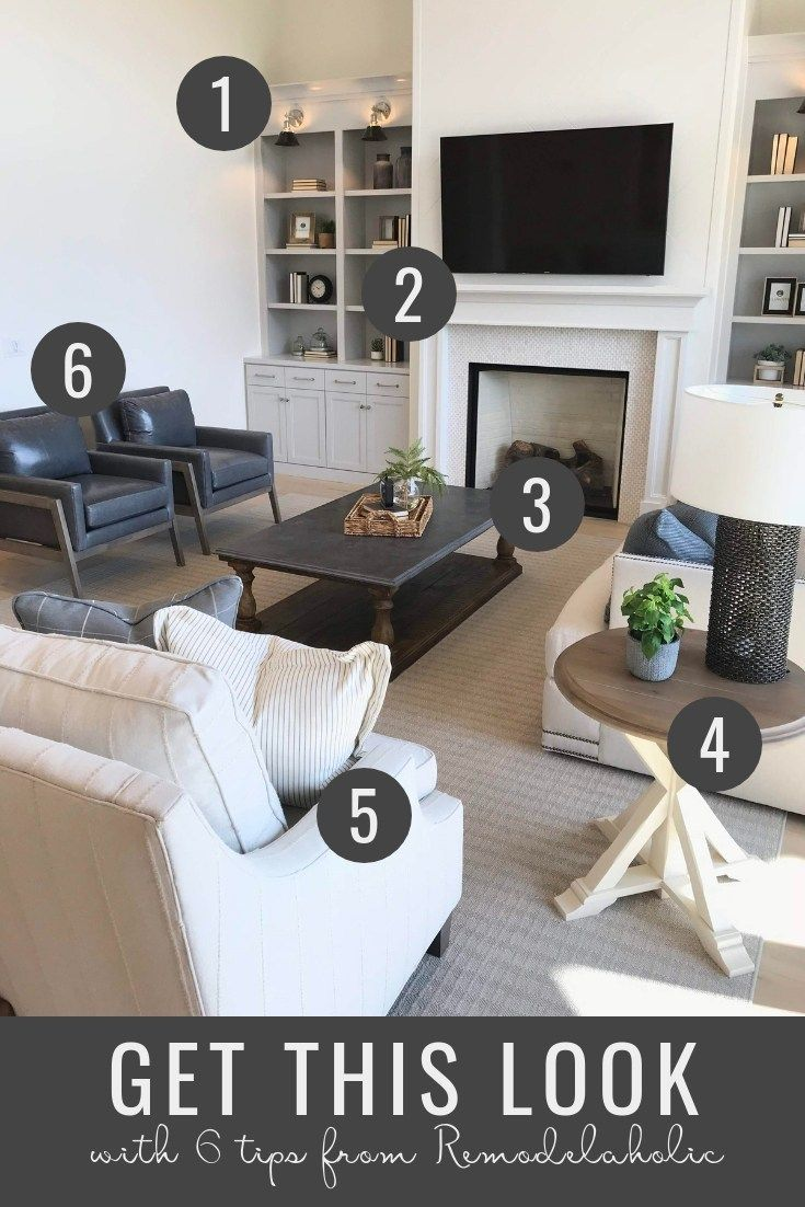 Modern Traditional And Farmhouse Styles Blend Into A Harmonious And Comfortable Timeles Timeless Living Room Comfortable Living Rooms Living Room Scandinavian