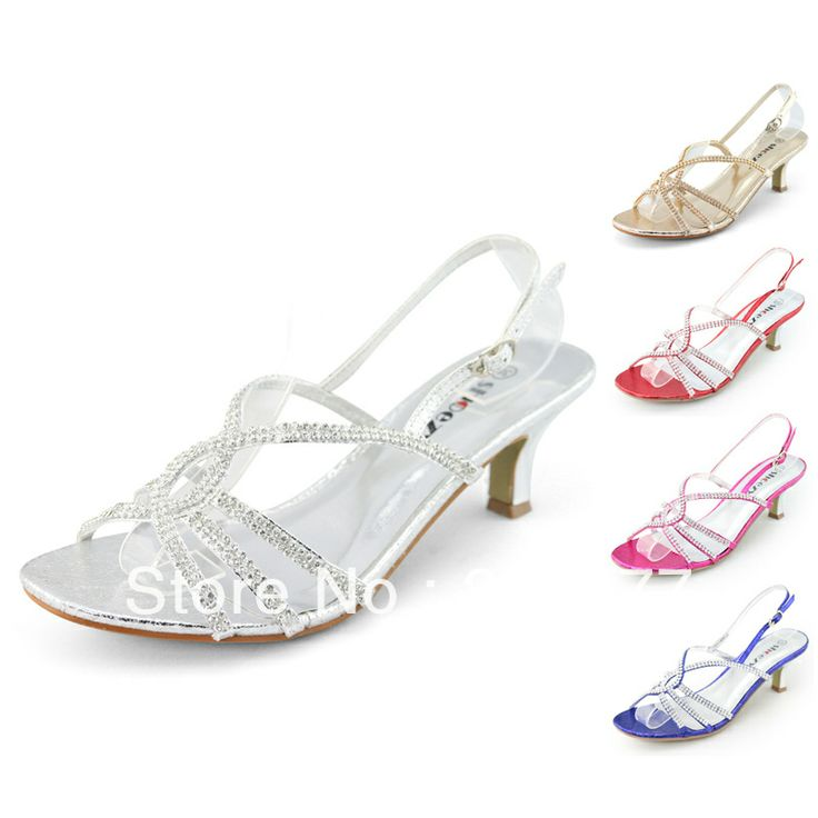 Good SHOEZY 2014 New Fashion Womens Silver Gold Strappy Diamond Wedding Shoes  Heels Prom Dress Low Kitten Heels Sandals Shoes
