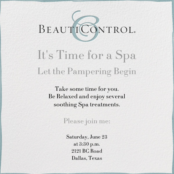 9 best Spa Invitations images on Pinterest Paperless post