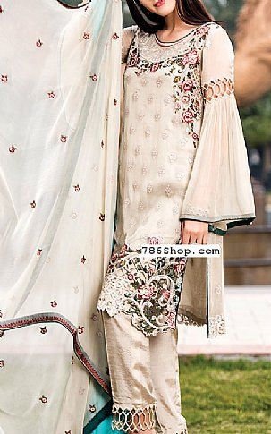 814f5ab5d0 Light Golden Chiffon Suit | Buy Maryams Pakistani Dresses and Clothing  online in USA, UK