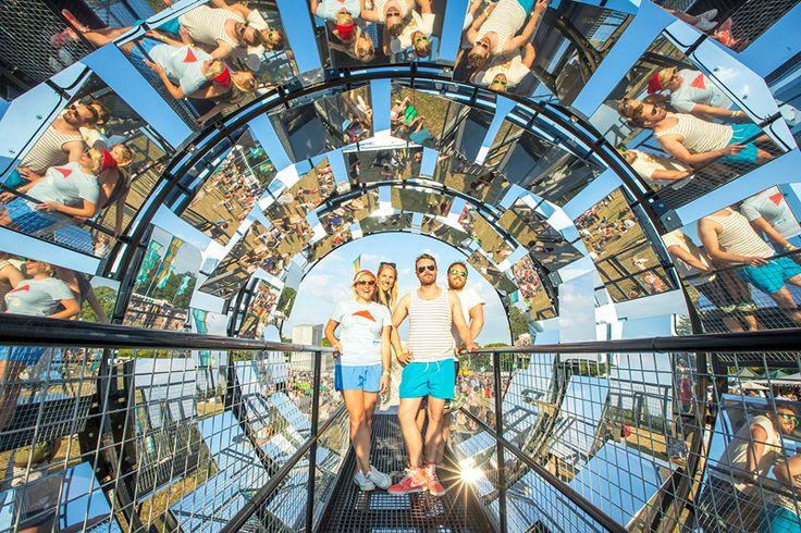 Straylight - www.batstudio.co.uk    A Giant Rotating Kaleidoscope Selfie Mirror Vortex Tunnel for HTC