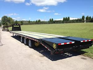 gatormade trailers | 40 5 30000 Gooseneck Flat Bed Gator USA Fifth Wheel Trailer | eBay