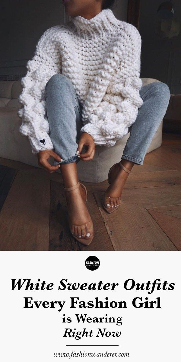 White Sweater Outfits Every Fashion Girl Is Wearing – #every #fashion #outfits #…