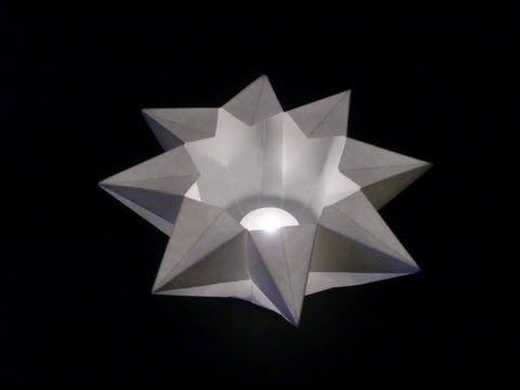 Origami Teelichtstern: Teacandle Star - Faltanleitung [HD/deutsch] - YouTube