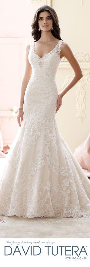 The David Tutera for Mon Cheri Fall 2015 Wedding Gown Collection - Style No. 215266 Murron  davidtuteraformoncheri.com  #weddingdresses