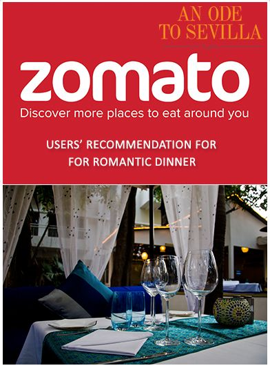 Reminiscing Sevilla's scintillating moments: USERS' RECOMMENDATION FOR ROMANTIC DINNER – ZOMATO  A WHOLE NEW #SEVILLA IS WAITING TO UNFOLD… Reopening on 22nd October.