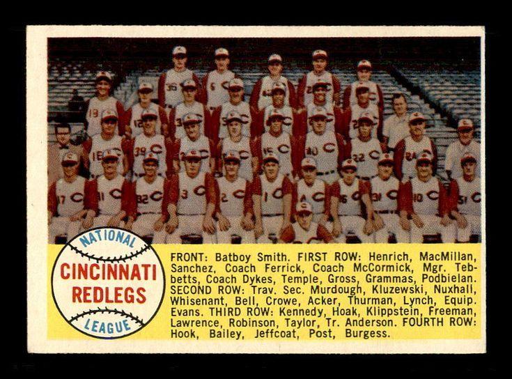 1958 Topps #428 Cincinnati Reds TC Alphabetical EX+ X1283827 #CincinnatiReds