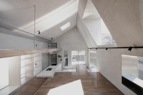 concrete interior. urban architecture office: FKI house