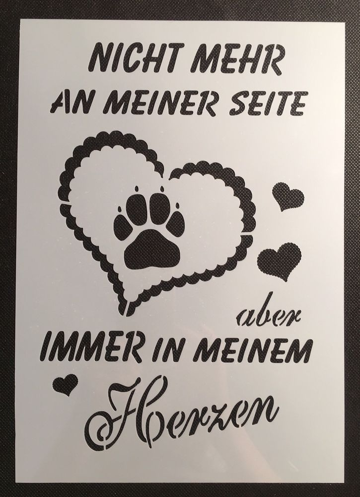 Shabby Chic Schablone f.Schild Farbe Schild Hund Glück Liebe Herz Kissen Stoff | Bastel- & Künstlerbedarf, Bastelmaterialien, Bastelwerkzeug | eBay! – eppy