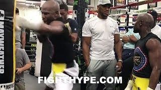 MAYWEATHER SHOWS ANTHONY JOSHUA NASTIEST JAB IN BOXING; DROPS UNRELEASED FOOTAGE STILL WORKING
