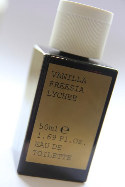 Korres Vanilla Freesia Lychee...This sweet and fruity fragrance is warmed up by the vanilla, so something about it smells lovely and creamy