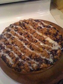 Blueberry Cinnamon Roll Crumble