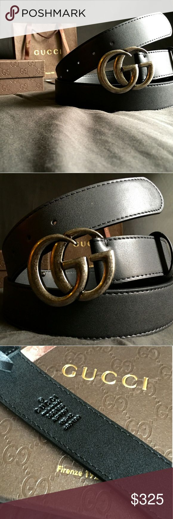 """Gucci Double G Belt!!! Gucci GG Belt W/Antique Silver Double G Buckle!!!  Brand New!!!  Unisex....For Man Or Woman!!!  Size Available - 32"""", 34"""", 36"""", 38"""", 40"""", 42""""!!!  Includes Gucci Belt, Gift Box, Dust Bag, Ribbon, Etc!!!  Great Gift Idea!!!  Last Available!!!  Check My Listings For Other Great Items!!!               Ignore: Gucci gg monogram casual dress belts men's women's guccissma leather gold silver web tiger bee embossed panther wool cable knit blooms supreme print angry cat ufo…"""