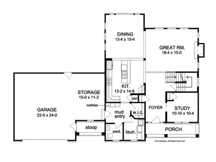 4 Bedroom Open Floor Plan Extend Great Room Make Huge