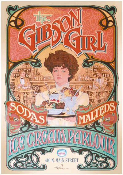 The Gibson Girl Ice Cream Parlor in Disneyland was created by Eddie Sotto based the parlor off on The Farrells Ice Cream Parlour.