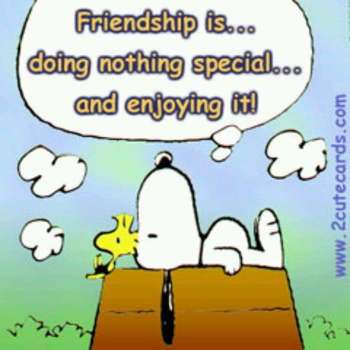 Friendship Is Doing Nothing Special...And Enjoying  It - Snoopy and Woodstock Watching Clouds Together