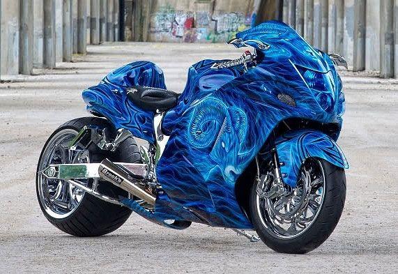 Blue Hyabusa...so sexxxxy...