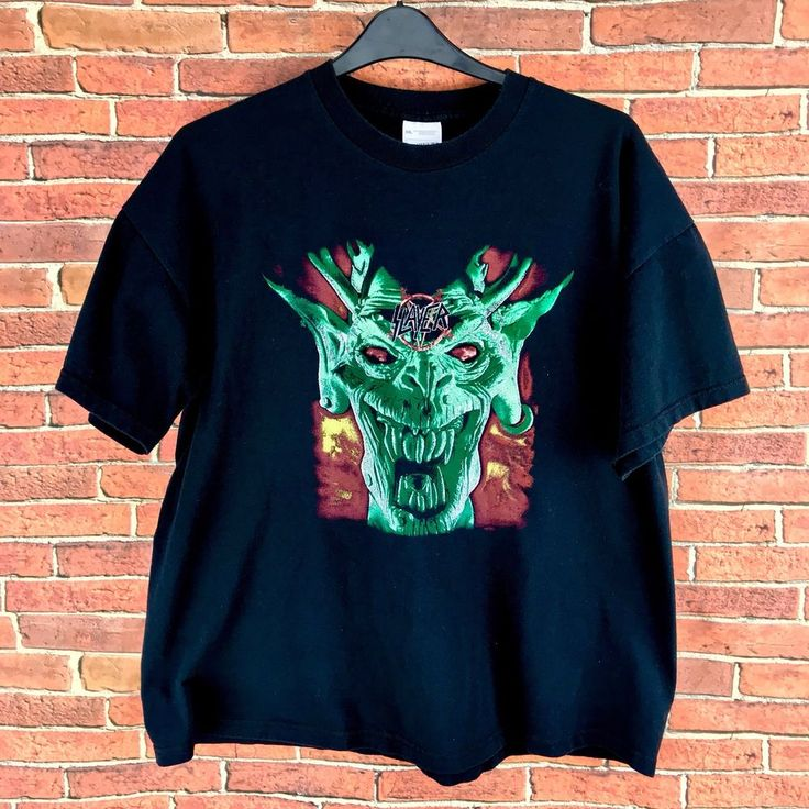 T Shirt Slayer Graphics Awesome Top Screen Stars 100% Cotton Size XXL styled usa
