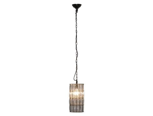 Pendant Light in Bronze and Clear B22 32cm OneWorld