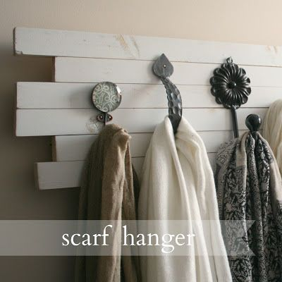Live a Little Wilder: the scarf hanger {tutorial}