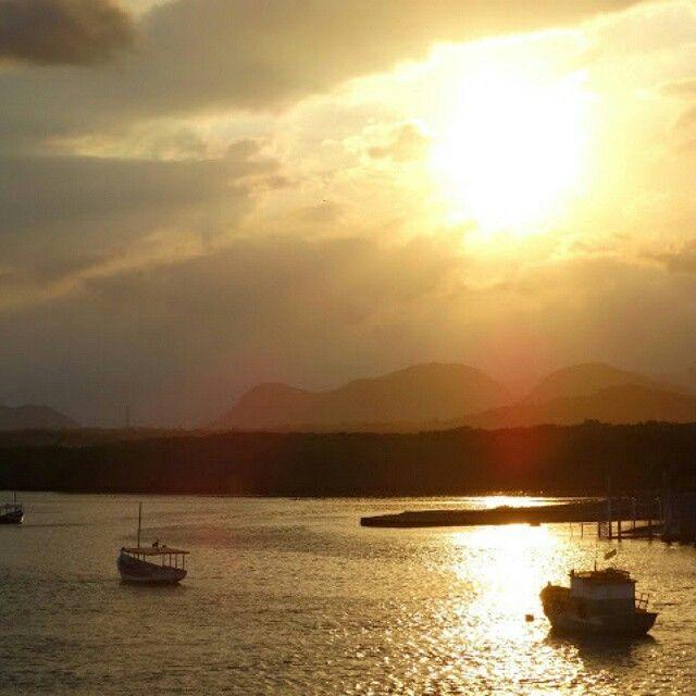 Por do sol em Guarapari,  Espírito Santo.  #sunset.