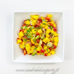 Mango and avocado salsa.
