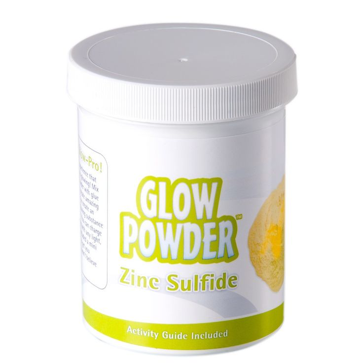 Glow in the Dark Powder - Zinc Sulfide with Mini Black Light | Steve Spangler Science