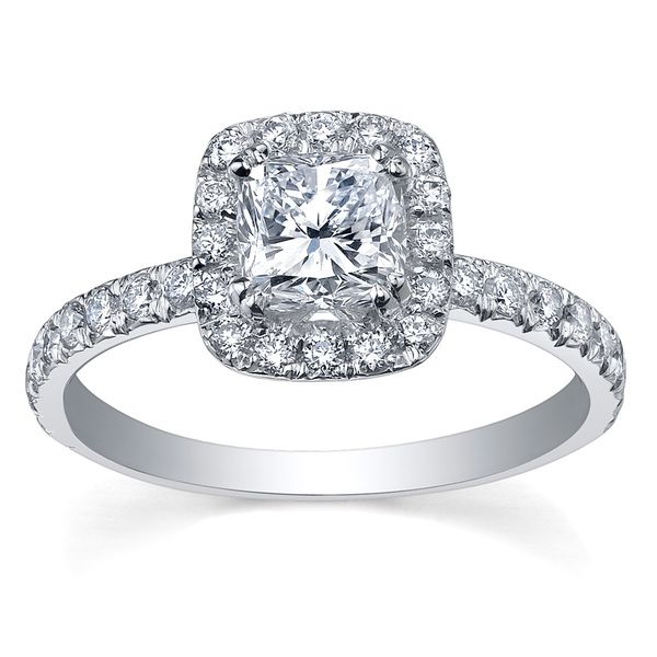 Maple Leaf Diamonds 18ct White Gold Diamond Halo Engagement Ring