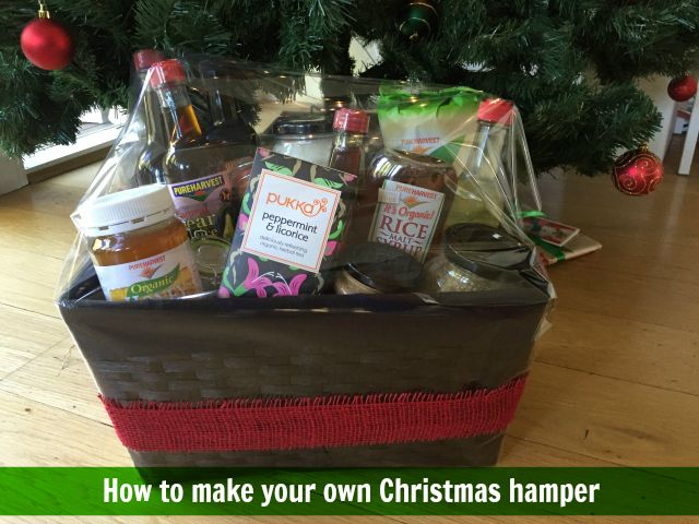 While it takes a little time to do, making your own Christmas hamper lets you tailor the goodies for the recipient you have in mind and you can add your own homemade goods too.