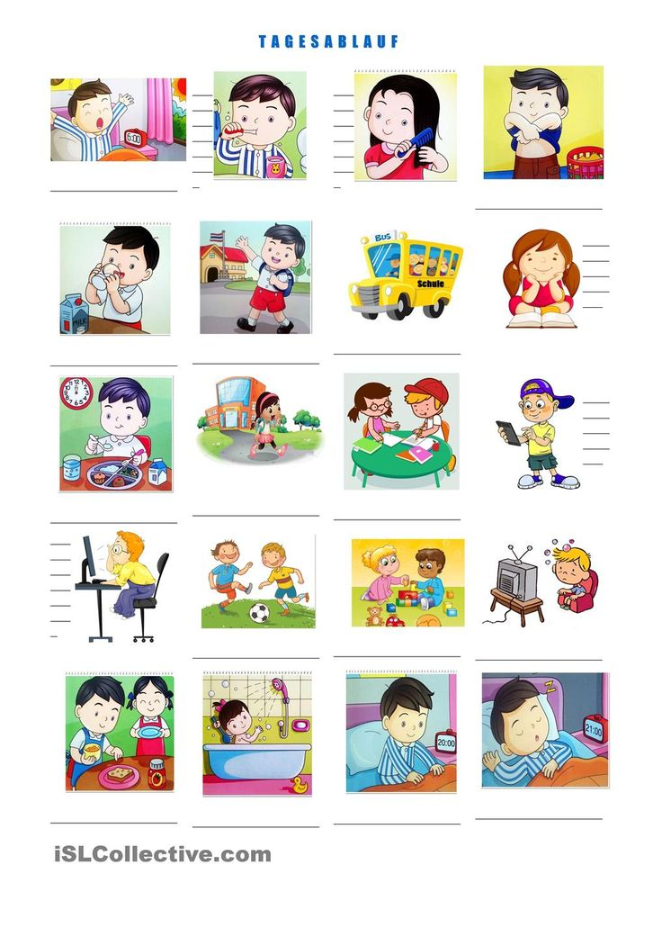 Bilder Cartoon Badezimmer Tagesablauf In Bildern | Tagesplan | Daily Schedule Kids