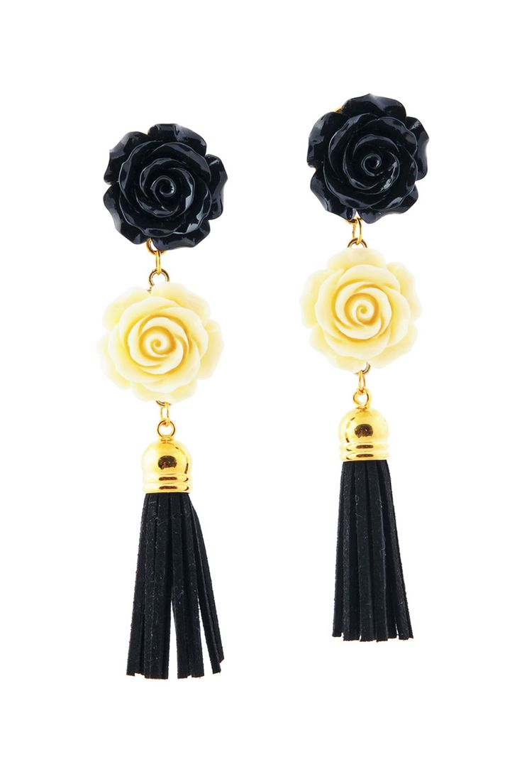 PITANGA Hélène Black Earrings