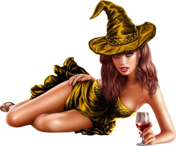 Całkiem czarownica i kieliszek wina rurki - Czarownica i wina png