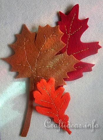 Free Fall Felt Craft Project - Felt Autumn Leaves