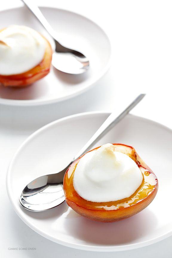 Peaches and Meringue | gimmesomeoven.com