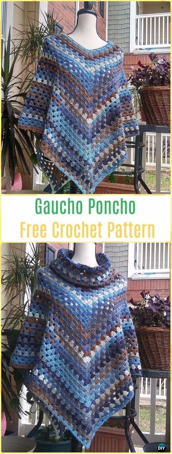 59 best Poncho Patterns images on Pinterest | Knit crochet, Crochet ...
