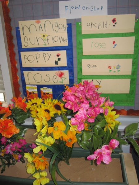 ideas for flower shop dramatic play without the dirt