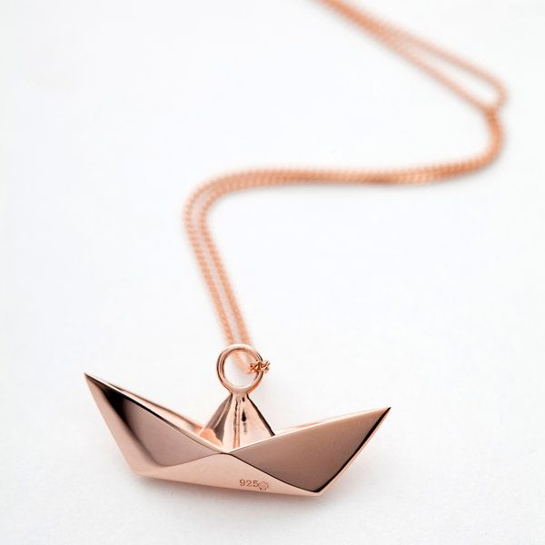 origami jewellery | Sautoirs Argent Or Rose