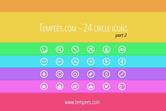 Second collection of circle #icons. Next 24 #icons for #free #download.