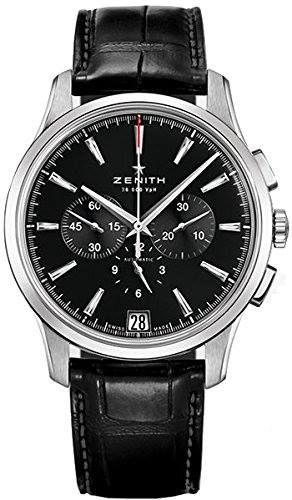 http://ift.tt/2r2bsAu Check Price https://goo.gl/Y5iNZO  Zenith Captain Chronograph Men's Automatic Watch 03-2110-400-22-C493                            Stainless steel case with a black alligator leather strap (rubber backed). Fixed stainless steel bezel. Black dial with silver-tone hands and index hour markers. Minute markers around the outer rim. Dial Type: Analog. Luminescent hands and markers. Date display at the 6 o'clock position. Chronograph - three sub-dials displaying: 60 second 30…