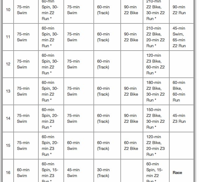 16 week half ironman training plan