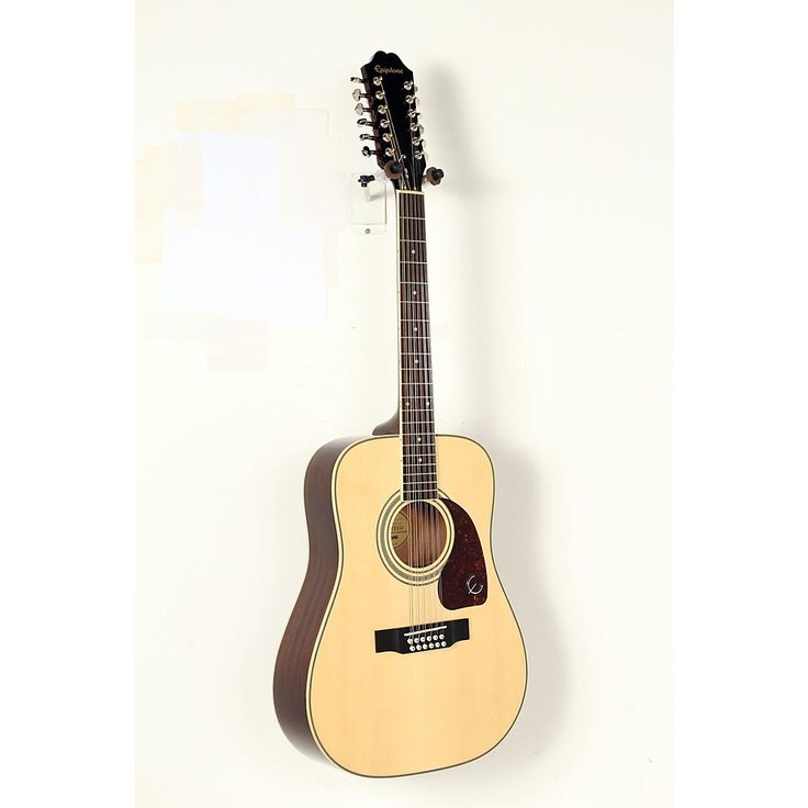 Epiphone DR-212 12-String Acoustic Guitar Natural, Chrome Hardware 888365999135